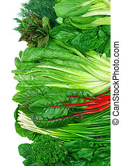 vário, legumes, frondoso