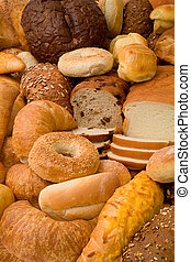 vário, tipos, de, pão
