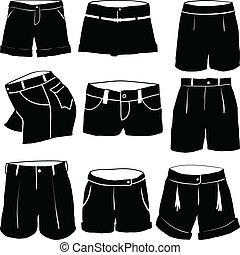 vário, womens, shorts