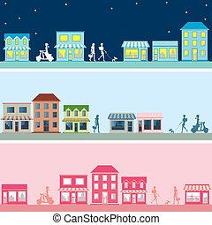 város, állhatatos, transzparens