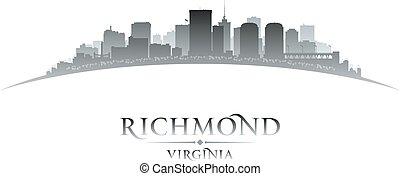 város, árnykép, virginia, richmond, háttér, fehér