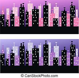 város égvonal