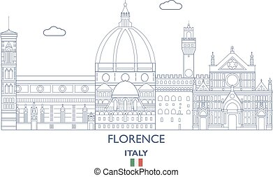 város égvonal, firenze, olaszország