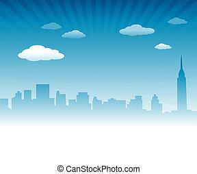 város égvonal, háttér