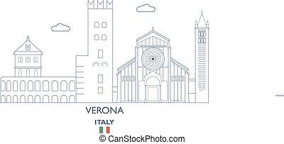 város égvonal, olaszország, verona