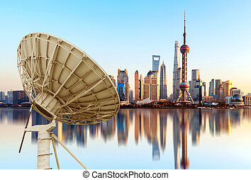 város égvonal, shanghai