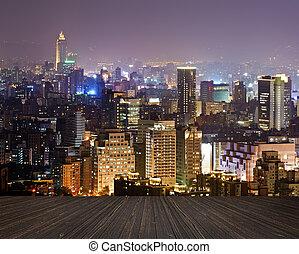 város, éjszaka