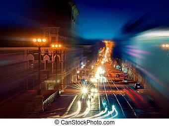 város, éjszakai élet