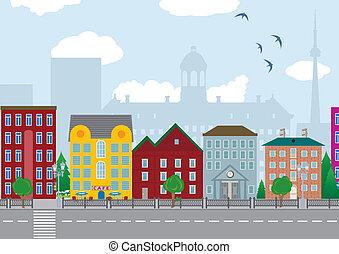 város, épület