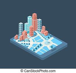 város, Épület, Tél