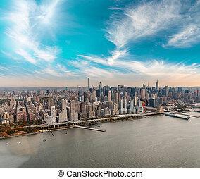 Város, épületek,  -,  York, új,  Manhattan