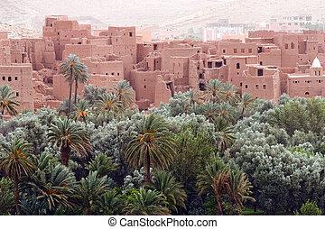 város, öreg, marokkói