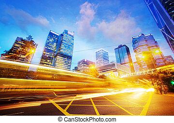 Város, Ügy, Nyomoz,  modern, Forgalom, fény