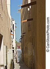 város, arab, utca, öreg, keskeny