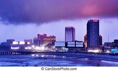 város, atlanti-