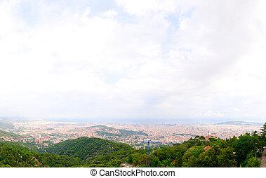 város, barcelona, kilátás