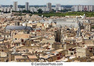 város, bordeaux-i, modern, öreg