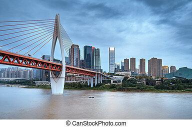 város, chongqing, állati tüdő, kína