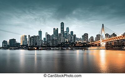 város, chongqing, kína, állati tüdő