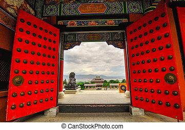 város, dal, rebuild, yunnan, dinasztia, dali, china., tartomány