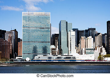 város, egyesült, -, főhadiszállás, nemzetek, york, új
