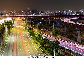 Város, elfoglalt, Forgalom,  Seoul