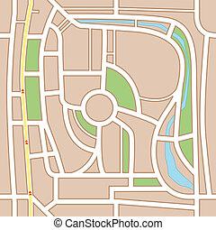 város, elvont, háttér, térkép