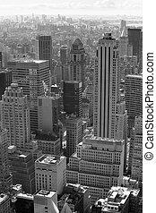 Város, fehér, fekete,  York, új
