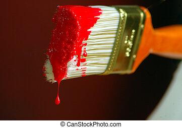 város, festék, piros