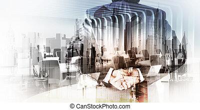 Város, fogalom, megkettőz, Kivonat, üzletember, kitevés