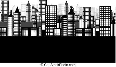 város, háttér