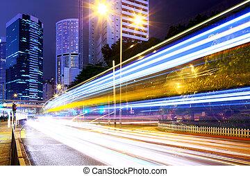 Város,  hong, Forgalom, nyom,  kong