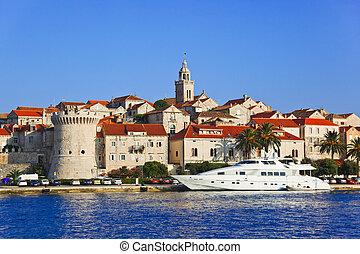 város, horvátország, korcula