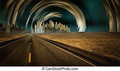 város, jövő