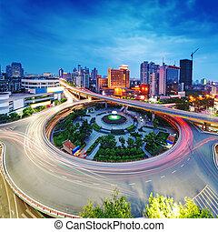 város, kína, nanchang, scape