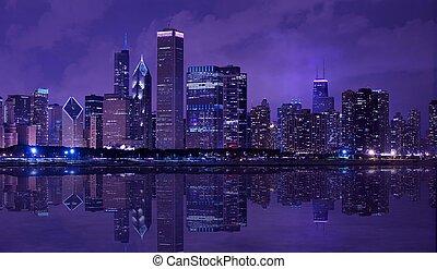 város, közül, chicago