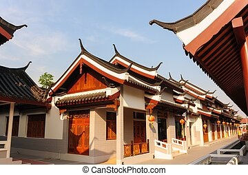 város, kanchanaburi., kína, retro