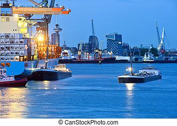 város, kikötő