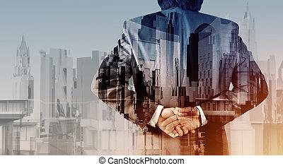 Város, Kivonat, üzletember, kitevés, megkettőz