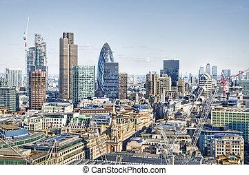 város london, láthatár