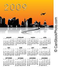 város, naptár