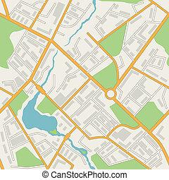 város térkép, motívum, elvont, seamless, háttér., vektor
