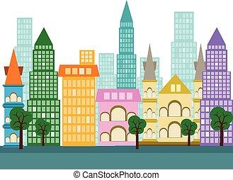 Város, vektor