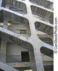 városi, építészet, croix, rousse, lyon, franciaország