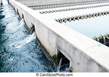 városi, berendezés, modern, wastewater, bánásmód