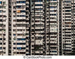 városi ház, kínai, hengerel