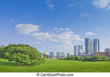 városi park
