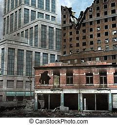 városi, pusztítás