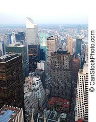 városi, város, antenna, nézet.