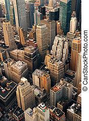 városi, város, felülnézet